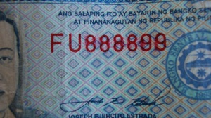 Tampered Thousand Peso Bill Up Close